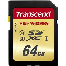 Transcend Ultimate UHS-I U3 Class 10 95MBps 633X 64GB SDXC